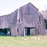 old falling down rustic barn