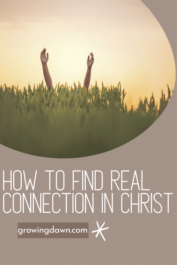 hands reaching toward sky with how to find real connection in christ